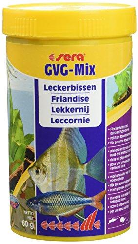 sera GVG-Mix Fischfutter tierisch mit Futtertieren als Leckerbissen & Präbiotika für verbesserte Futterverwertung, geringere Wasserbelastung & weniger Algen im Aquarium z.B. für Skalare, Barben usw.