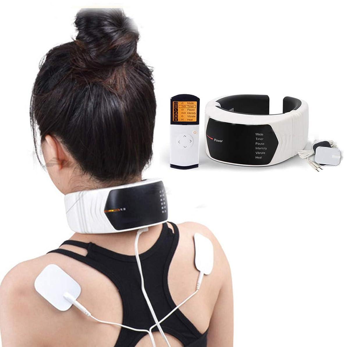 休暇緊張するなんとなく首の肩のマッサージャー、加熱機能の高周波振動を用いる無線リモート?コントロールの頚部ウエストの足の椎骨のマッサージャーは、ママおよびパパのための最もよいギフトです