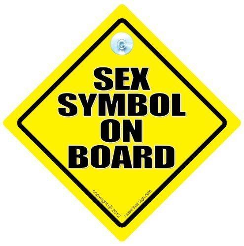 Sex Symbole sur planche, voiture Panneau, Sticker Sex Symbole, pare-chocs, en voiture, bébéà bord, panneau, autocollant pour voiture, Road Sign, Road Rage, hayon, TAILGATER, garder votre Distance, garder Panneau arrière, conduite, conduite, sexy voiture Panneau