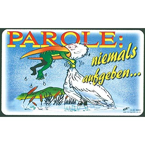 Spaßschild - Parole - Niemals aufgeben - 309064 - Gr. ca. 25 x 15 cm