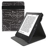 kwmobile Funda Compatible con Kobo Aura H2O Edition 1 - Carcasa para e-Book de Cuero sintético - física Blanco/Negro