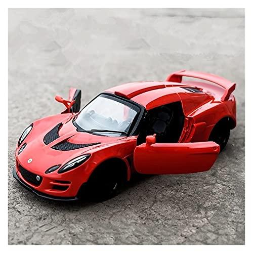 MHDXZ 1:32 para Lotus Requiere Modelo Coche Juguete simulación fundición aleación Scura con luz Sonido para Regalo niños (Color : Rojo)