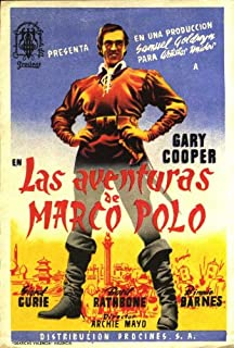 The Adventures of Marco Polo Movie Poster (27 x 40 Inches - 69cm x 102cm) (1938) Spanish -(Gary Cooper)(Sigrid Gurie)(Basil Rathbone)(Ernest Truex)(George Barbier)(Binnie Barnes)