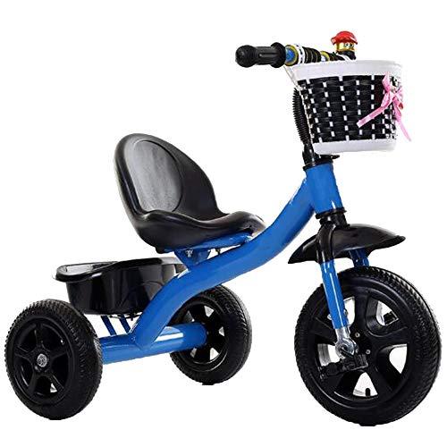 YUMEIGE Trikes Kids driewieler pneumatische band gewicht 80Kg 1-6 Jaar oude verjaardag Kids Gift Peuter Trike Blauw