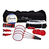 Champion Sports CG202 Volleyball & Badminton Set: Net, Poles,...