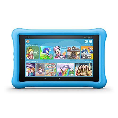 FireHD8 KidsEdition-Tablet, 8-Zoll-HD-Bildschirm, 32GB, blaue kindgerechte Hülle (vorherige Generation – 8.)