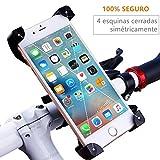 REY Soporte de Móvil para Bicicleta o Motocicleta, Universal, Sujeción Smartphone