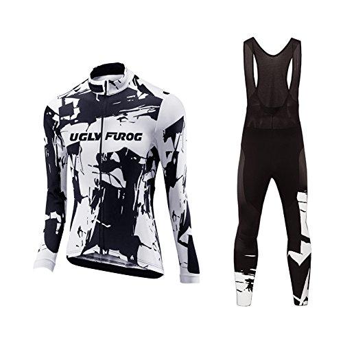 UGLYFROG Diseño Especial Mujer Ropa de Ciclismo Bicicleta Conjunto Traje de Ropa Deportiva Jersey de Manga Larga + Pantalones Respirable Secado Rápido Primavera Vestir