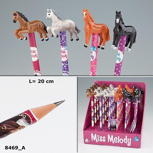 Depesche Serie Miss Melody Bleistift mit 3D-Topper Pferd sort. 1 von 4 Modellen
