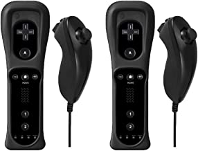 $49 » Sponsored Ad - Poulep Gesture Controller and Nunchuck Joystick with Silicone Case for Wii Wii U Console (N Black and N Black)