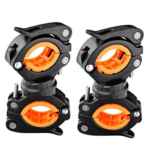 Uyuke 2pcs Support de Lampe de Poche 360º Rotation vélo Support de Montage Support de Lampe de Poche Torche Clip Pince pour Le Cyclisme
