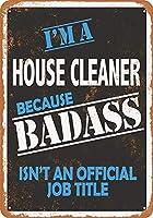 Shimaier 壁の装飾 ブリキ 看板メタルサイン Badass House Cleaner ウォールアート バー カフェ 30×40cm ヴィンテージ風 メタルプレート
