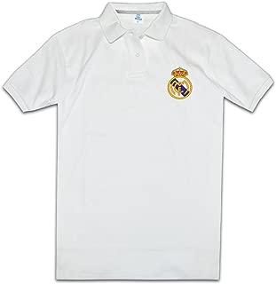 OPLOKI Real Madrid CF Madrid Football Club Men's Polo T-Shirt Tee Shirts