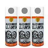 Pintura Spray Aluminio Llante 400 Ml - Pack de 3 Unidades