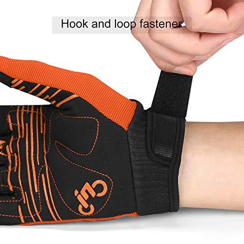 INBIKE MTB Handschuhe Herren Kinder Damen Fahrradhandschuhe Atmungsaktiv rutschfest Touchscreen Radhandschuhe Für Moutainbike Dowhill Radsport Orange M - 3