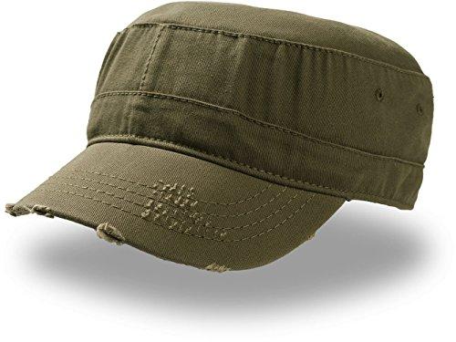 Army Destroyed Cap im Fidel Castro Kuba Look. Fullcap im Military Style in 7 Farben und den Grössen S/M und L/XL L / XL,OLIV