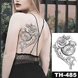 HXMAN 5 Unids Temporal Tatuaje Negro Flor Tatuaje Mangas De Agua ...
