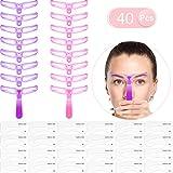 40 Stücke Augenbrauen Schablonen Kit