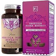 FS Rhodiola Rosea 400mg Gelules | 90 Capsules Végétariennes | Herbe Adaptogène | Supporte la Concentration | 3% de Salidrosides pour Effet | Sans Gluten, OGM ni Laitier