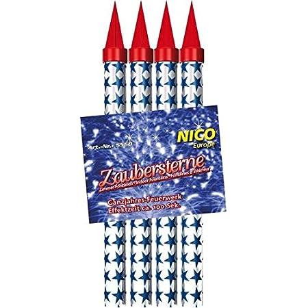 Bengalos Bengalfeuer Bengalfackel bengalisches Feuer Feuerwerk rot wei/ß blau gr/ün gelb Blau, 5 St/ück 1 Profi Sturmfeuerzeug von Home Flair/®
