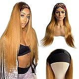 BLISSHAIR Ombre Headband Wigs Peluca recto de cabello humano Cabello liso peluca Brasileña Virgen Cabello humano 100% sin procesar Sin cola Pelucas para mujeres 1B/30 Color 20 pulgadas
