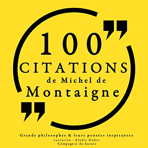 Couverture de 100 citations de Michel de Montaigne