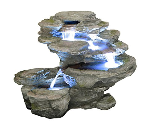 Primrose Gartenbrunnen Ogen River Leap mit LED-Beleuchtung, 65cm