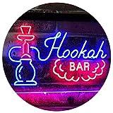 ADV PRO Hookah Bar Smoke Display Dual Color LED Barlicht Neonlicht Lichtwerbung Neon Sign Rot & blau...
