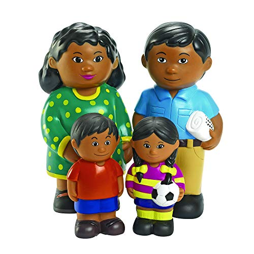 Excellerations Kids Multicultural Figures & Families 6.25-8'H Doll Playset Set of Four- Hispanic, Kids Educational Toy, Pack of 4