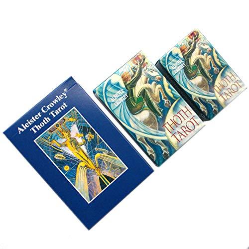 Aleister Crowley Thoth Tarot - 78 Tarotkarten mit Englische Anweisungen (Standard)