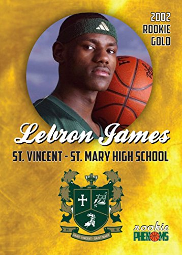 2002 LEBRON JAMES ST VINCENT ST MARY HIGH SCHOOL ROOKIE CARD IN A ONE TOUCH MAGNETIC CASE
