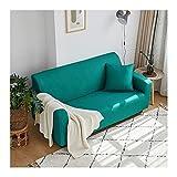 Beydodo Protector de Sofá,Fundas para Sofa Poliester Color Sólido Azul Verde,Sofá Funda 4 Plazas(235-300CM)