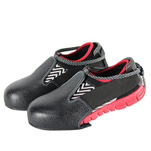 Gugutogo Sicherheits-Überschuhe für Schuhe, Rutschfest, Unisex, leicht, Stahl-Zehenschutz, Schwarz, Größe 35 bis 47