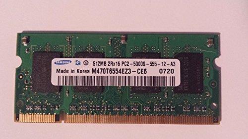 M470T6554EZ3-Ce6:512MB Samsung PC2-5300 SODIMM DDR2