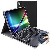 Funda para teclado para iPad 10.2 de 8ª generación (2020) / 7ª (2019), con diseño de teclado Bluetooth británico, con teclado panel táctil magnético desmontable, apto para iPad de 10.2 pulgadas.