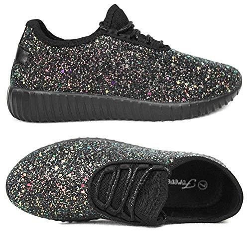 Forever Link Womens REMY-18 Fashion Shoes ALT-REMY-18BLKMULTBlack Multi 7
