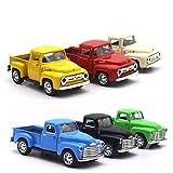 6 Colores Disponibles Nueva camioneta Pickup rústica clásica roja de Metal Vintage, Regalo de Juguete de camión Rojo para niños, vehículo de Metal Modelo de Coche con Ruedas móviles Azul
