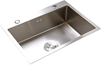 FSFF Aanrecht, hoge temperatuur bestendig zuur en geurbestendig geborsteld roestvrij staal gootsteen, geschikt voor hotelk...