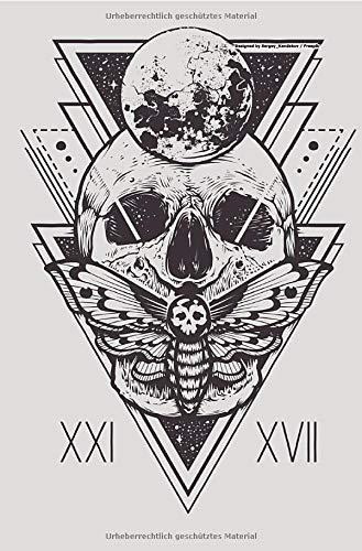 Heavy Metal Skull Totenkopf Notizbuch für Metal und Rock Fans punktiert dotted 68 Seiten: Bullet Journal Tagebuch Organizer Festivaltagebuch Konzertplaner Terminplaner Geschenk