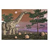 """Jigsaw Puzzles Argentinosaurus Dinosaurs 3D Render for Kids Adults Educational Intellectual Game Gift Large Puzzle Toys DIY Challenge Indoor - 20""""x30""""(1000 Pieces)"""