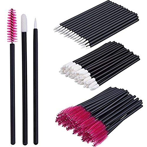 Make-up Pinsel Set Einweg Lip Brushes Lippenstifte Eyeliner Pinsel Wimpern Mascara Zauberstab Applikator Kosmetik Make-up Tool Kits - 3 Stil in 300 Pack
