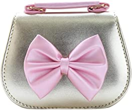 Luxshiny Kids Girl Bowknot Crossbody Bags PU Leather Messenger Bag Purse Handbag for Baby Girls