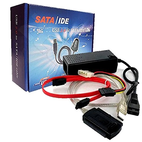 """Adaptador IDE SATA 2.5"""" 3.5"""" Cablea USB para Disco Duro CD DVD SSD con cable y fuente dealimentacion AIS 2420"""
