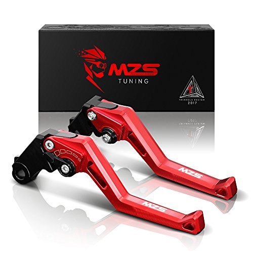 MZS Adjustment Levers Short Brake Clutch CNC Red Compatible with Yamaha YZF R1 2002-2003| YZF R6 1999-2004| FZ1 Fazer FZS1000 FZS1 01-05| R6S USA Version 06-09| R6S Canada 2007-2009| YZF600R 97-07