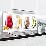 Cristal templado antisalpicaduras, resistente al calor, decorativo, 125x50cm, de 4mm de grosor, perfecto para cocinas de gas, cerámica o inducción, fácil de limpiar y colgar