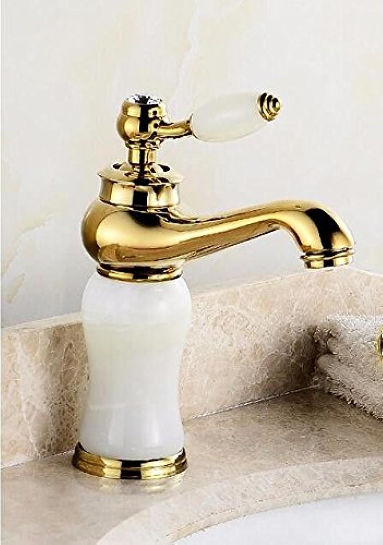 ETERNAL QUALITY Bad Waschbecken Wasserhahn Küche Waschbecken Wasserhahn Kupferne Heie Und Kalte Unter Gegenbassinmarmorjade Waschtischmischer BQ1777ca