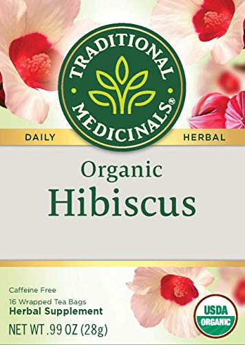 Traditional Medicinals Organic Hibiscus Herbal Tea (Pack Of 6), Supports Cardiovascular Health, 16...