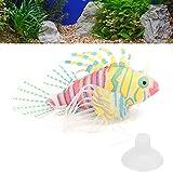 Ranvo Pez Falso Luminoso, pez de simulación Luminoso inofensivo Hecho artificialmente con Luces LED para pecera para decoración(Naranja Rosa)