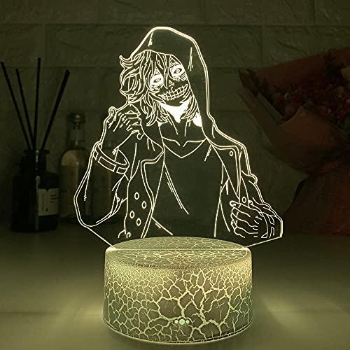 Lámparas de Anime de luz nocturna 3D, luz de figura para niños, niñas, luces de Manga, regalos, luz para la luz de noche de la mesa del dormitorio del hogar