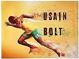 Tri-Seven Entertainment Usain Bolt Poster Running Fast
